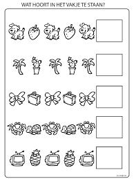 Kleurplaat Vormen Logica Volgorde Kleurplatennl