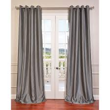 exclusive fabrics textured dupioni faux silk 108 inch blackout grommet curtain panel free on orders over 45 com 16915668