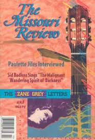 "The <b>Missouri</b> Review » 18.2 (Fall 1995): ""The <b>Zane Grey</b> Letters"""