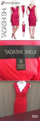Tadashi Size Chart Tadashi Shoji Lace Red Dress Size 6 Size 6 This Brand Runs