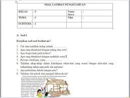 Ulangan harian biasanya dilaksanakan setiap akhir tema atau subtema itu juga tergantung dari bapak ibu guru. Download Soal Dan Kunci Jawaban Kelas 5 Sd Mi Tema 1 Subtema 1 2 3 Kurikulum 2013 Folder Sekolahku