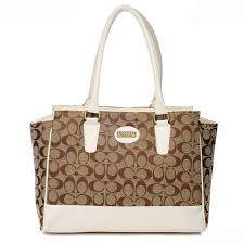 coach north south logo medium ivory satchels dwf  coach legacy candace in  signature medium white satchels ard
