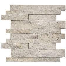 grey travertine tile backsplash.  Backsplash Random Sized Travertine Mosaic Tile In Ivory In Grey Backsplash N