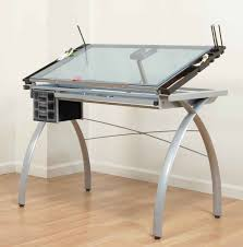modern adjule drafting table ikea with glass on laminate wood flooring for exciting study furniture design