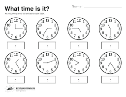 Time Worksheets For Kindergarten Teaching How To Tell Time ...