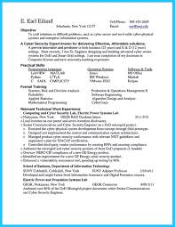 Contemporary Design Entry Level Cyber Security Resume Cyber Security