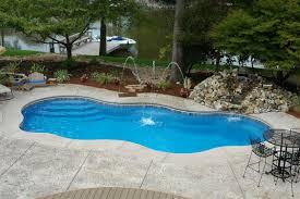 laa freeform inground fiberglass pool a with small fiberglass pools
