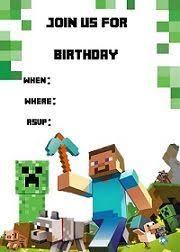 Minecraft Invitation Templates Birthday Buzzin And Lots