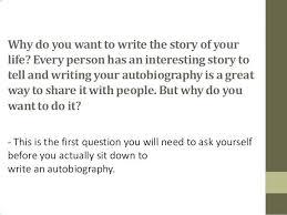 How Start An Autobiography Present Original Likeness Residence ...