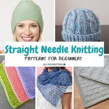 Easy Knit Hat Pattern Straight Needles Inspiration 48 Straight Needle Knitting Patterns For Beginners AllFreeKnitting