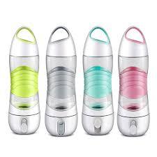 Water Bottle Reminder Light Us 19 28 35 Off 400ml 4in1 Smart Water Bottle Sports Beauty Spray Bottle Sos Warning Light Reminder Drinking Led Night Lighting Usb Charging In