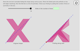 Folding Investigating Lines Of Symmetry Geogebra