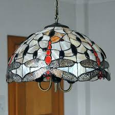 chandeliers stained glass chandelier with lamp shades lighting vintage hanging