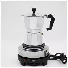 Bếp Điện Mini Bếp Dùng Cho Ấm Pha Cafe Moka Pot Bếp Ăn lẩu Bếp Du Lịch Công  Suất 500W Không Kén Nồi Bếp Điện Pha Trà Cafe Đun Sáp BH3T