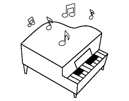 Small Picture Grand piano coloring page Coloringcrewcom