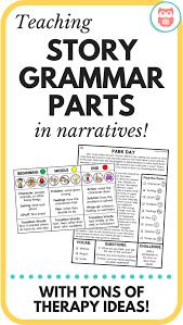 Story Grammar Teaching Story Grammar Parts In Narratives Speech