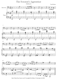 bassoon sheet music bassoon dukas sorcerer apprentice sheet music 8notes com