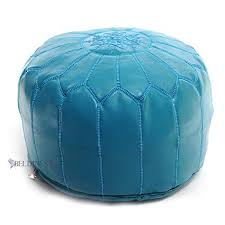 Turquoise Moroccan Pouf