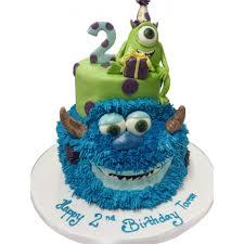 2 Tier Monsters Birthday Cake Kids Animation Cakes