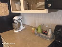 Kitchen Backsplash Wallpaper Beadboard Backsplash Using Wallpaper Mom 4 Real