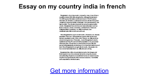 essay on my country in french google docs