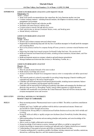 Resume Template Market Research Analyst Objective Image Examples