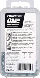 Power Pro Size Chart Amazon Com Power Pro 116702 Multi Material Screws 0 625