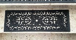 Antirutsch streifen treppe geprägt 3cm rutsch schutz stufenmatte teppichmatte. Stufenmatte Anti Rutsch Aussentreppe Gummimatte Fussmatte Gussoptik 75x25cm Eur 5 99 Picclick De