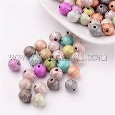 Wholesale <b>8mm 100pcs</b>/<b>Lot</b> Mixed Matte Acrylic Beads, Spray ...
