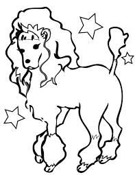 Small Picture Poodle Coloring Page Handipoints