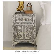 bone inlay nightstand.  Bone Bone Inlay NightstandBedside Table Furniture Shelves U0026 Drawers On  Carousell In Nightstand