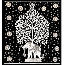 black and white elephant tree tapestry wall hanging indian cotton sheet on black art tapestry wall hangings with black and white elephant tree tapestry wall hanging indian cotton