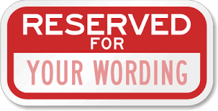 reserved sign templates customize parking spot signs with your name