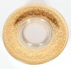 glass dessert plates splendid set of six antique gilded and sterling overlay glass dessert plates for