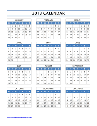 printable year calendar 2013 calendar archives page 4 of 4 freewordtemplates net