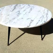 white marble coffee table round mid century modern low profile slant leg base top australia