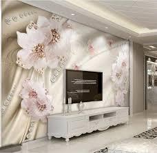 Kopen Custom 3d Behang Luxe Bloemen 3d Foto Behang Woonkamer