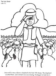 Small Picture The Lost Sheep Bible Story Coloring Page Keanuvillecom