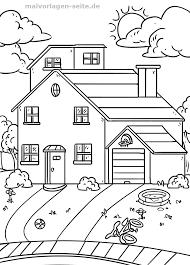 Kleurplaat Huis Met Tuin Gratis Kleurpaginas Om Te Downloaden
