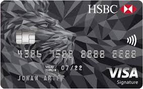 hsbc visa signature credit cards