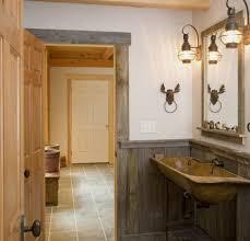 bathroom lighting ideas photos. Wooden Bathroom Decor With Rustic Lighting Ideas Photos