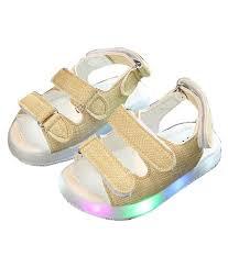 Toddler Boy Light Up Sandals Toddler Boy Girl Led Light Magic Tape Baby Sandals Summer