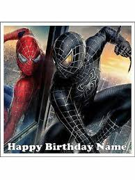 Spiderman 7 18cm Sq Edible Cake Topper Icing Image Birthday Party