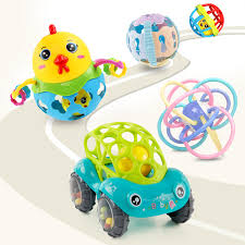 baby toys 3 6 12 months puzzle soft glue hand ball mage sensing tactile manhattan ball rattle teether