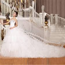 Discount Wow Luxury Long Train Bridal Dress Sweetheart A Line