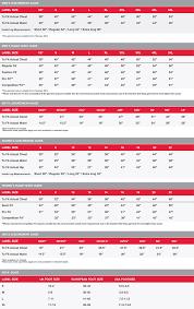 Psl Team Sports Samurai Size Guide