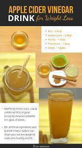 apple cider vinegar weight loss drink