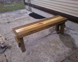 modern style wooden benches and wooden back porch gourmet weekend project simple stripe