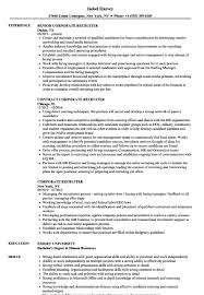Recruiter Skills Resume New Corporate Recruiter Resume Samples