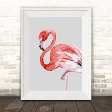 watercolour flamingo print hardtofind